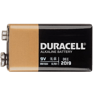 Battery clipart 9v black and white library Duracell 9V Battery transparent PNG - StickPNG black and white library