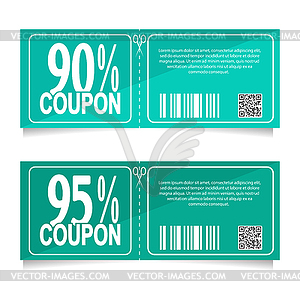 90 percent clipart banner royalty free Design coupon for discount of 90 and 95 percent. - vector clipart banner royalty free