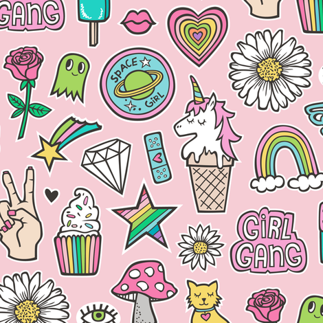 90 s clipart doodles png clip black and white download Patches Stickers 90\'s Doodle Unicorn Ice Cream, Rainbow, Hearts ... clip black and white download