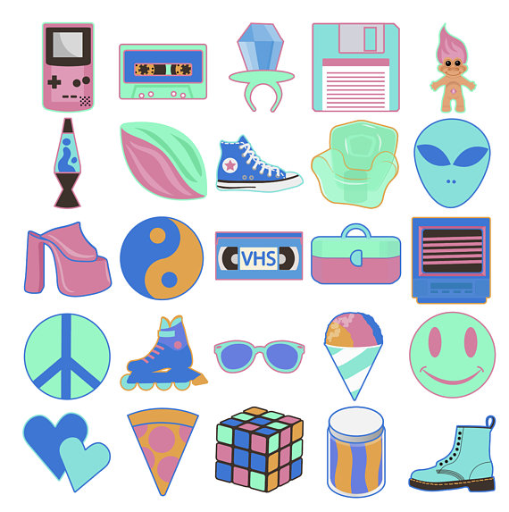 90s phone clipart banner free stock 1990\'S CLIPART - Neon colors 90s toys, fashion, and objects ... banner free stock