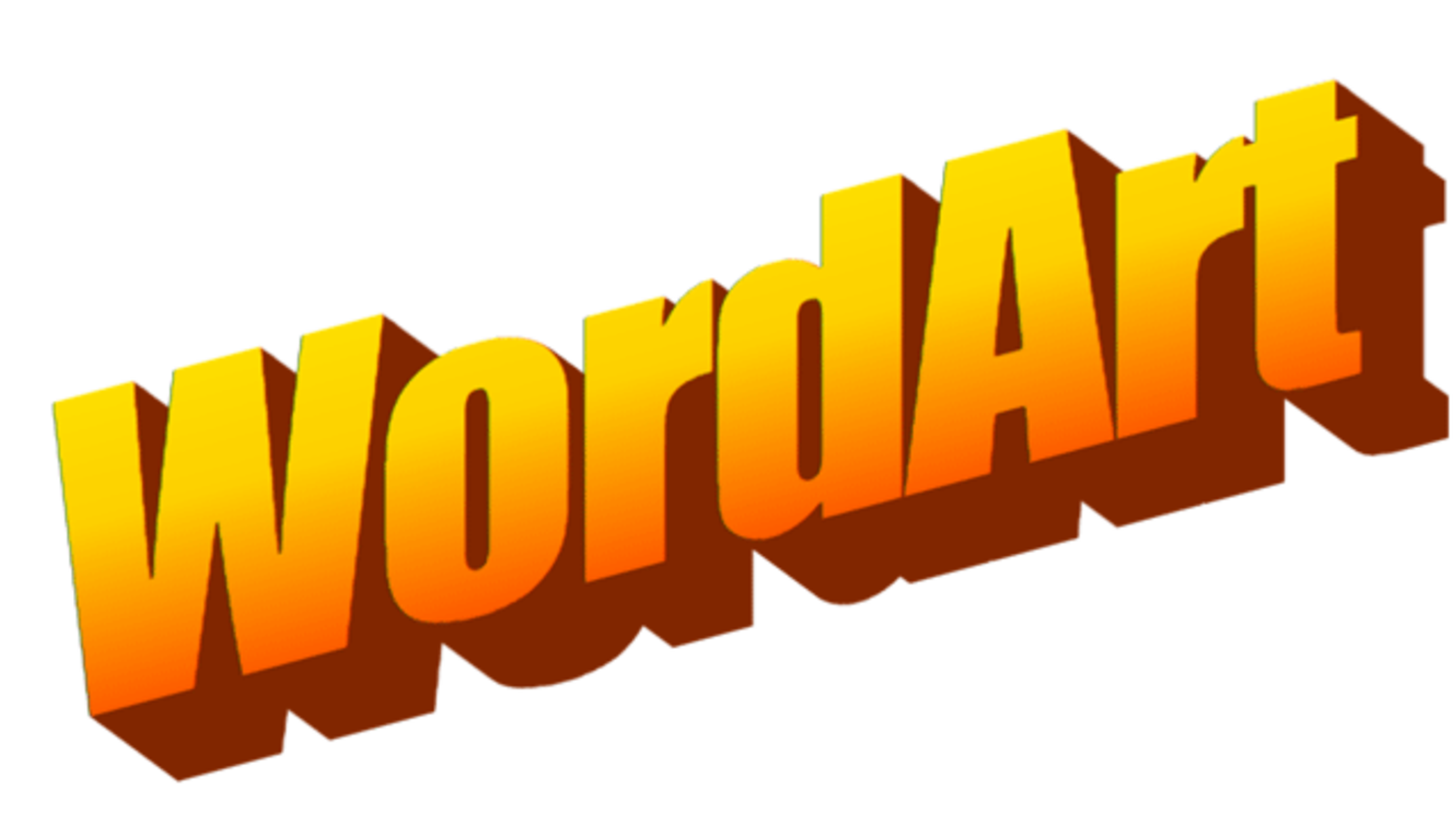 WordArt Generator Transports Your Text Back to the \'90s   Mental Floss clip transparent library