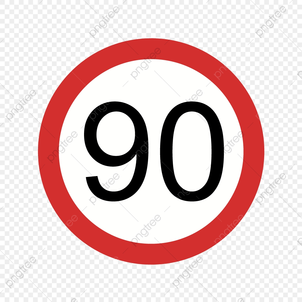 Vector Speed Limit 90 Icon, Dashboard Icon, Limit Icon, Sign Icon ... clip freeuse library