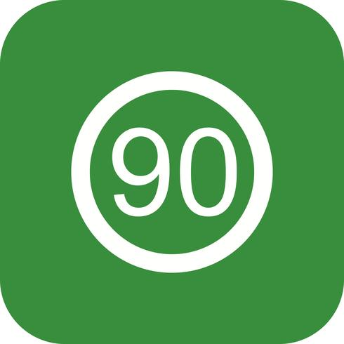 Vector Speed limit 90 Icon - Download Free Vector Art, Stock ... graphic transparent