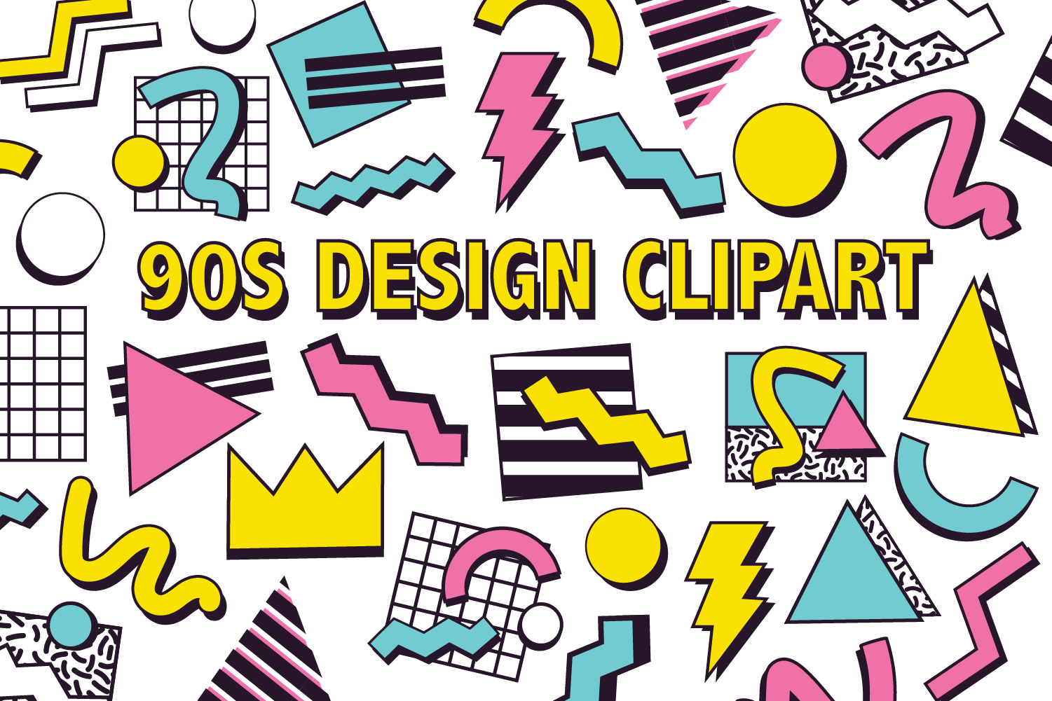 90s clipart graphic freeuse download 90s DESIGN CLIPART graphic freeuse download