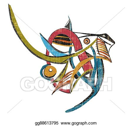 90-s cubism man clipart svg library library Vector Illustration - Colorful elephant on a white background ... svg library library