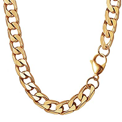 Raimbel in a gold of pote cliparts stock MING KUO 18K Faux Gold Chain Hip Hop Necklace, 90s Punk Style Necklace  Costume Stainless Steel Jewelry (24 inches, 10mm) (Gold) … stock