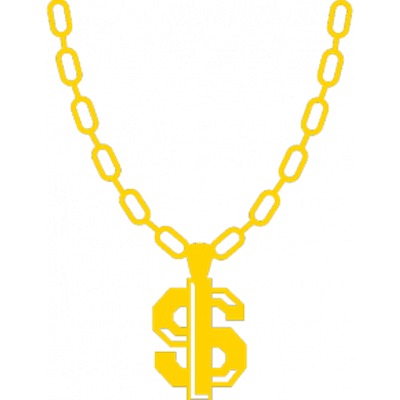 90s gold chain clipart graphic library library Thug Life Real Gold Chain transparent PNG - StickPNG graphic library library