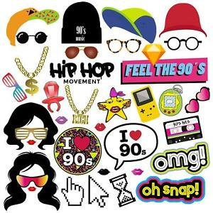 90s hip hop clipart png transparent stock Details about 90s Photo Booth Props, 90s Party Supplies Decorations for Hip  Hop Party - 36pcs png transparent stock
