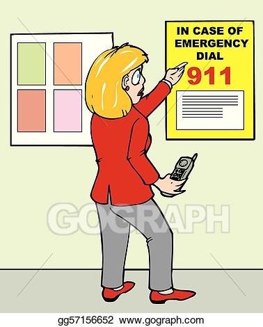 911 call clipart banner freeuse Vector Illustration - 911 poster. EPS Clipart gg57156652 - GoGraph banner freeuse
