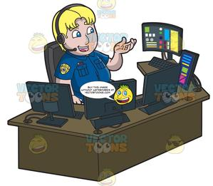 A Chubby Male 911 Dispatcher png royalty free library