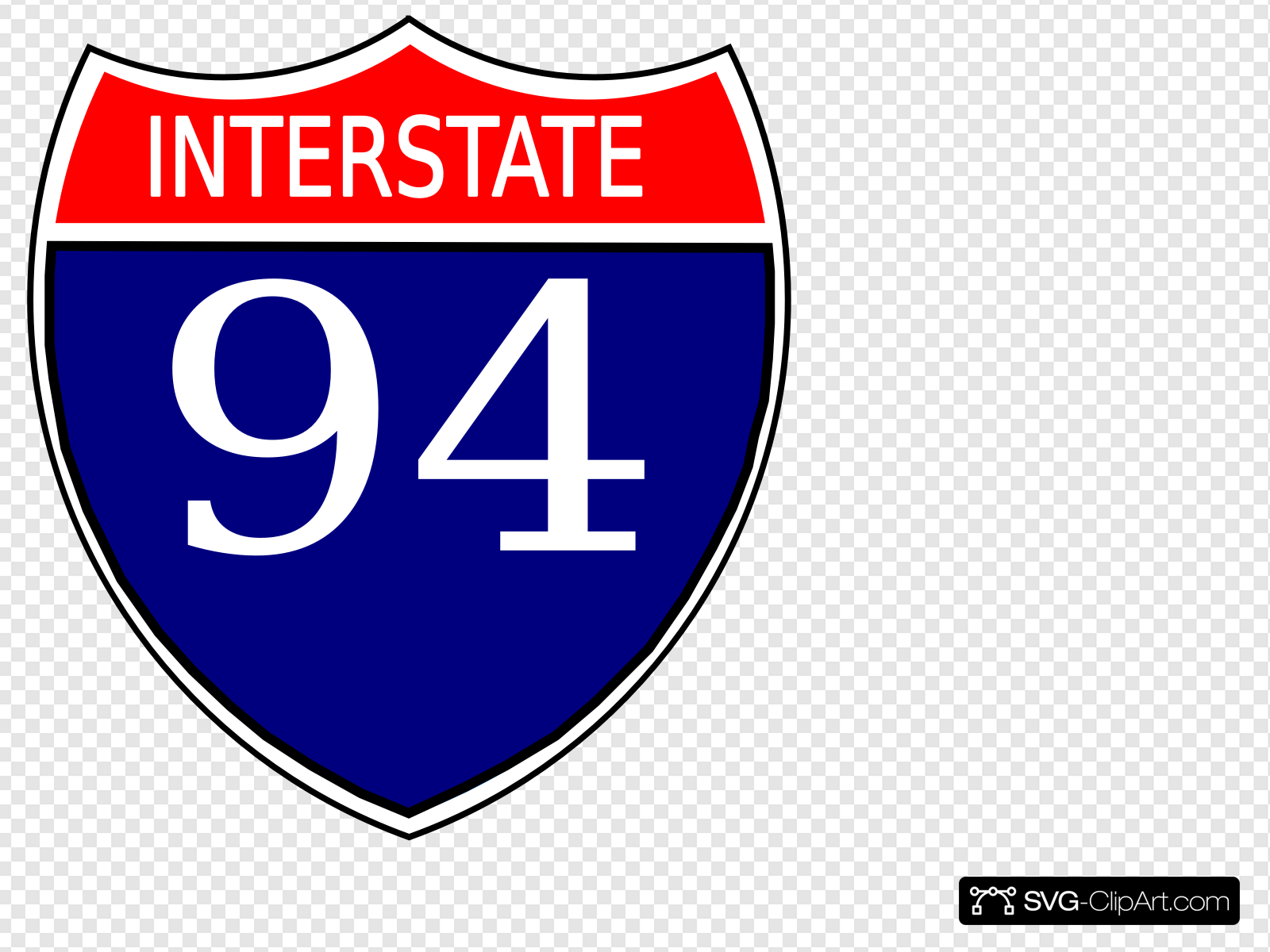 I-94 Sign Clip art, Icon and SVG - SVG Clipart picture