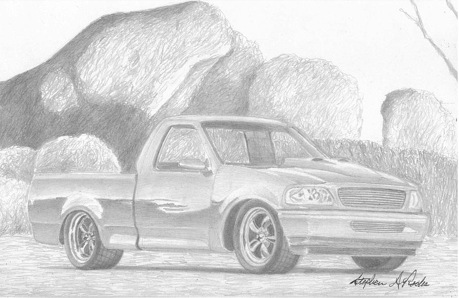 98 ford pickup truck clipart clip art black and white stock Pickup paintings search result at PaintingValley.com clip art black and white stock
