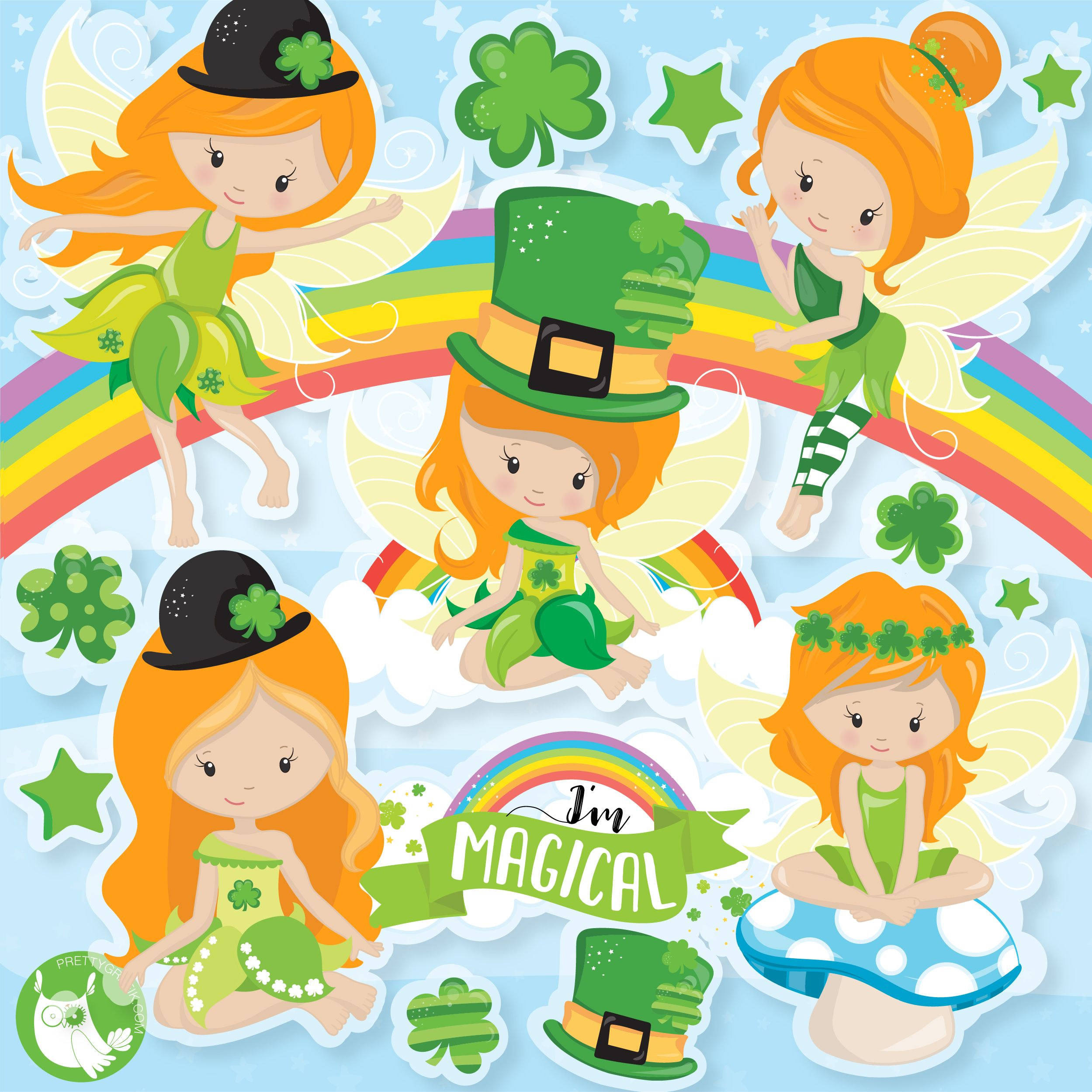 99 cent clipart banner free stock NEW CLIPART RELEASE* St-Patrick\'s day Fairies graphics for only .99 ... banner free stock