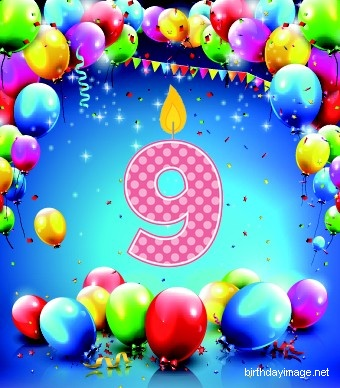 9th birthday dance balloons clipart