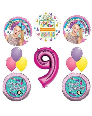 9th birthday dance balloons clipart png library JoJo Siwa Party Supplies Dream Crazy Big 9th Birthday Balloon Bouquet  Decorations from Walmart USA | parenting.com Shop png library