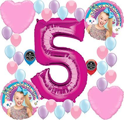 JOJO SIWA Party Supplies Birthday Balloon Decoration Bundle For (5th  Birthday) jpg download