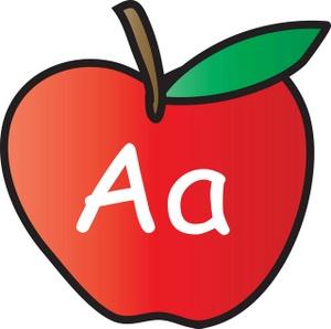 A alphabet letter apple clipart. Clipartfest image