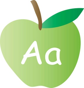 A alphabet letter apple clipart image free Alphabet Clipart Image - An Apple With The Letter A Written On It image free