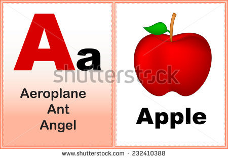 A alphabet letter apple clipart image black and white library Cartoon Drawing Letter Apple Stock Vector 85670992 - Shutterstock image black and white library