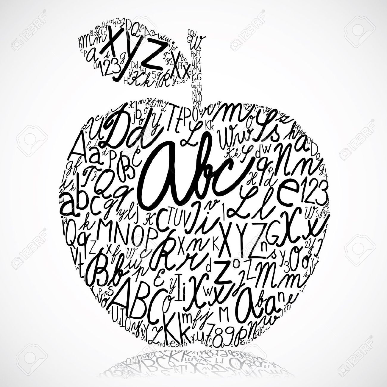 A alphabet letter apple clipart jpg black and white A alphabet letter apple clipart - ClipartFest jpg black and white