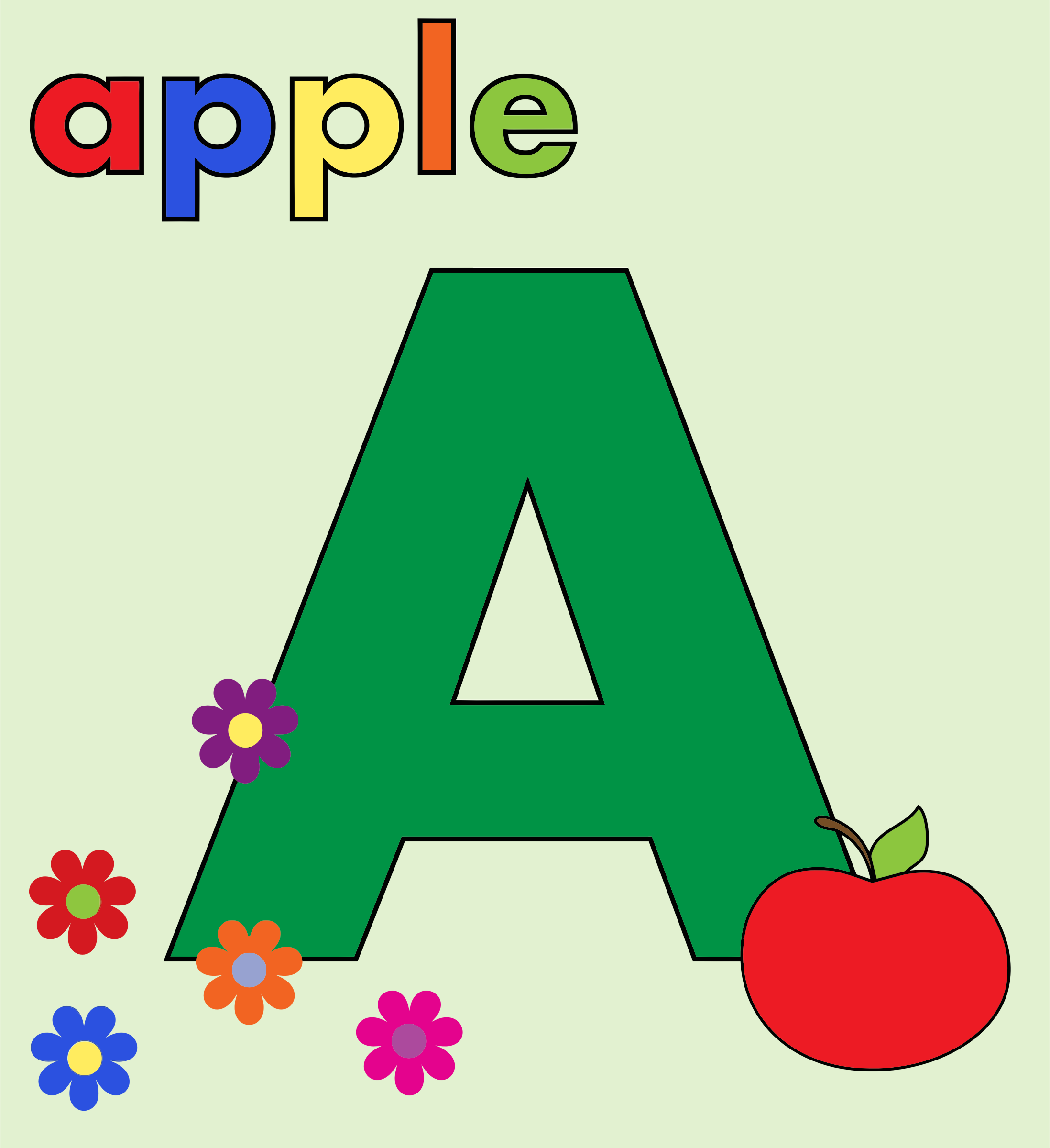 A alphabet letter apple clipart clip freeuse library A alphabet letter apple clipart - ClipartFest clip freeuse library