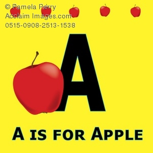 Clipartfox of the . A alphabet letter apple clipart