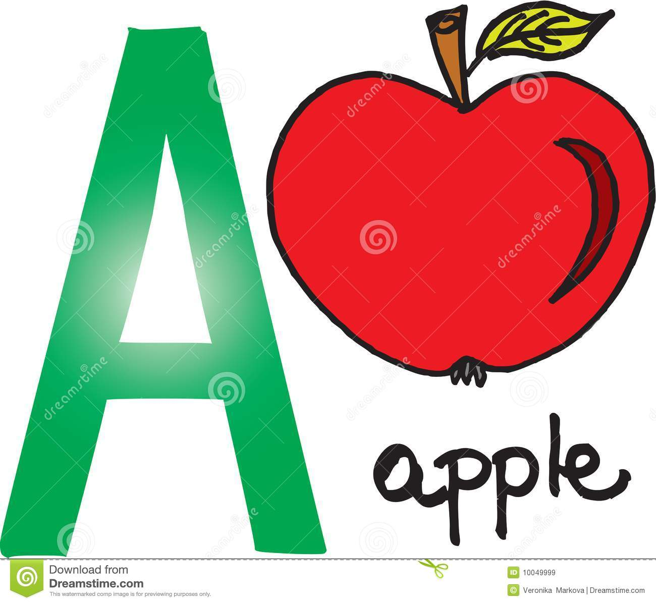 A alphabet letter apple clipart image freeuse stock Letter a apple clipart - ClipartFox image freeuse stock