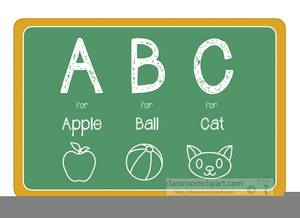 A b c clipart graphic free Abc Chalkboard Clipart   Free Images at Clker.com - vector clip art ... graphic free