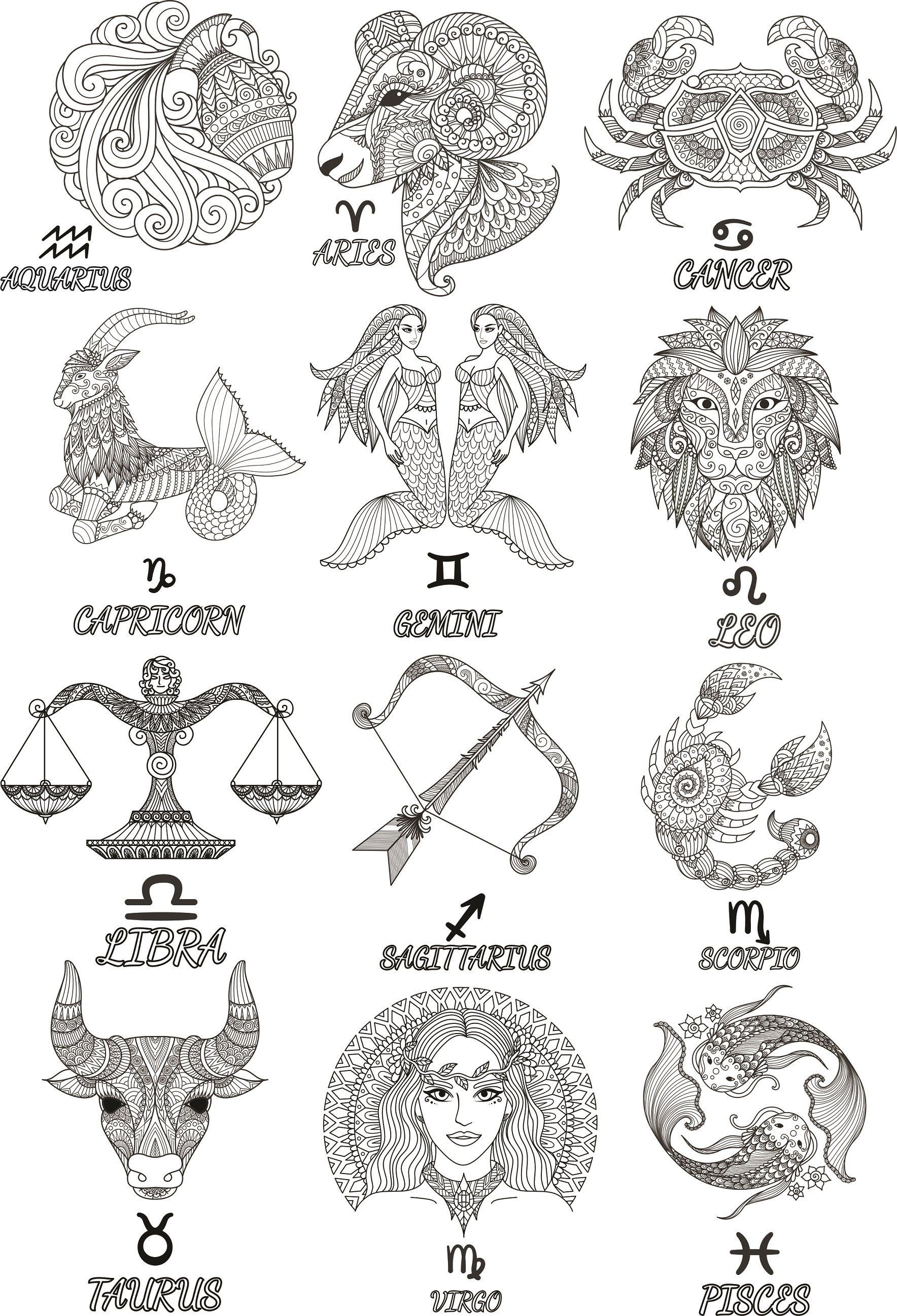 A badass august woman clipart vector free download Zodiak Signs ClipArt. Horoscope Vector Image. Svg, Cdr, Png, Eps ... vector free download