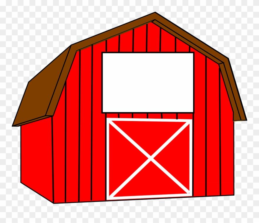 A barn clipart banner black and white Farm Barn Clip Art Clipart Image - Barn Clipart - Png Download ... banner black and white