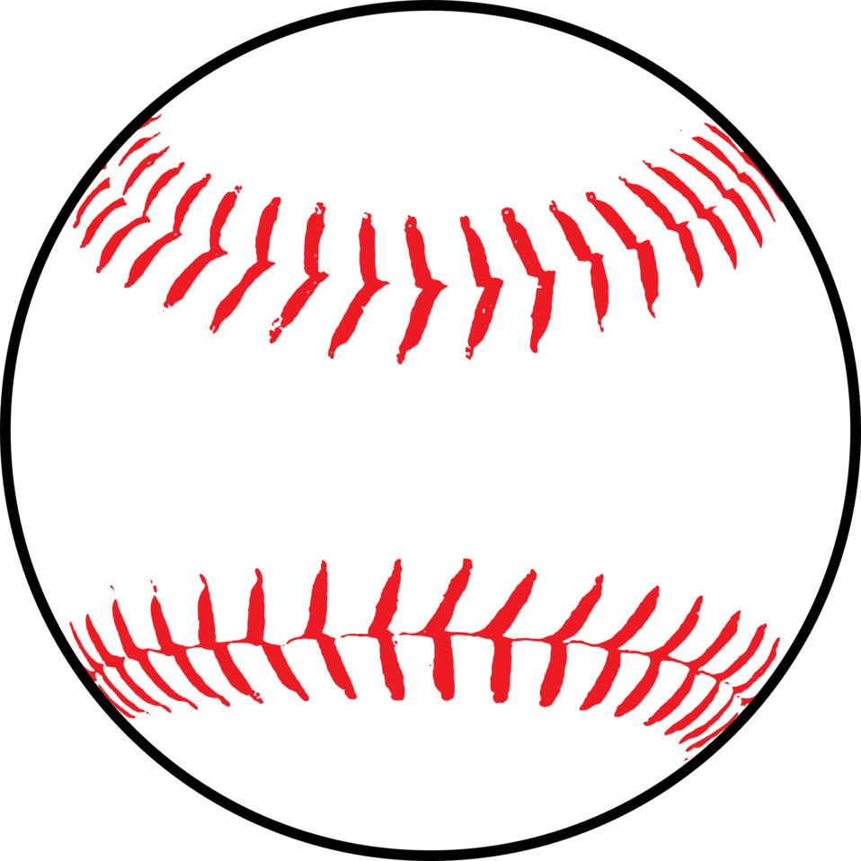 Baseball related clipart. Black and white photos