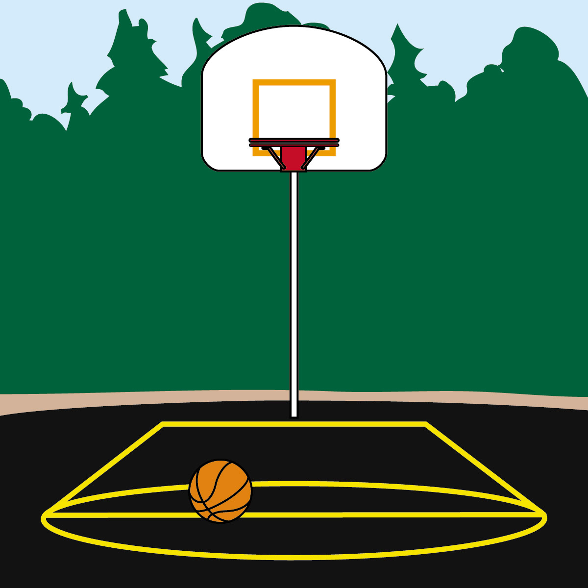 Cartoon basketball court clipart image stock Basketball Court Clipart Group with 51+ items image stock
