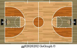 Basketball Court Clip Art - Royalty Free - GoGraph vector library library