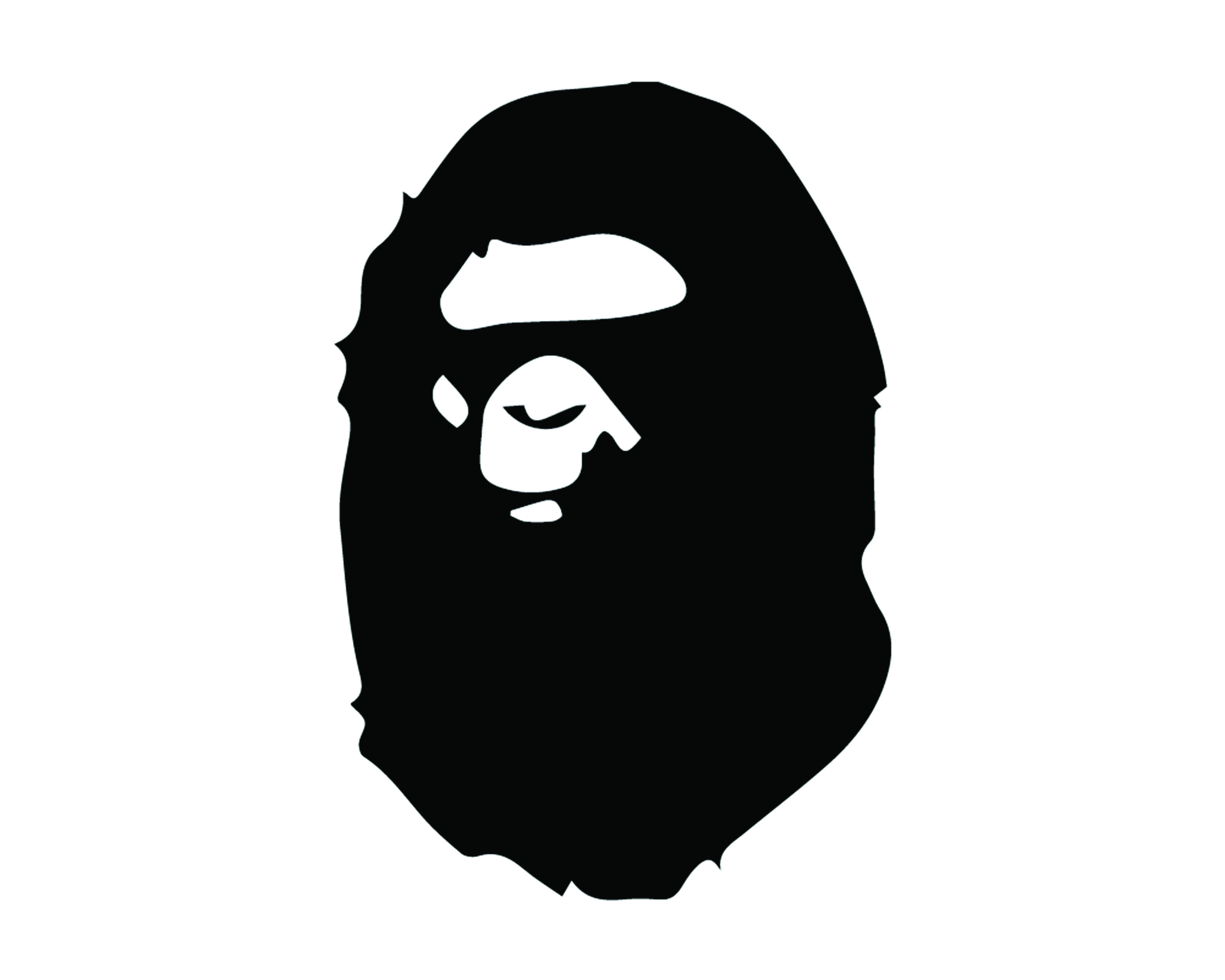 A bathing ape clipart clip download A BATHING APE FACE LOGO VINYL PAINTING STENCIL SIZE PACK *HIGH QUALITY* clip download
