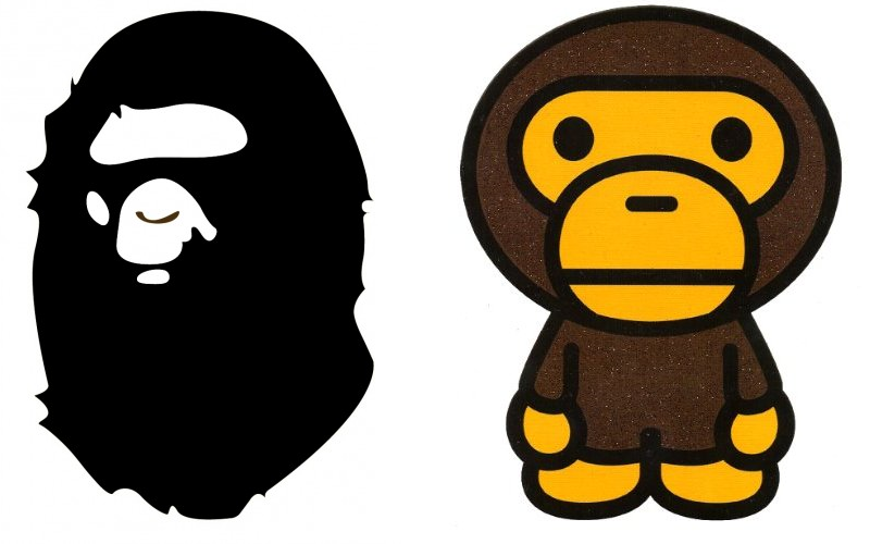 A bathing ape clipart image black and white History of Bape – A Bathing Ape – ThatShoeGuy image black and white