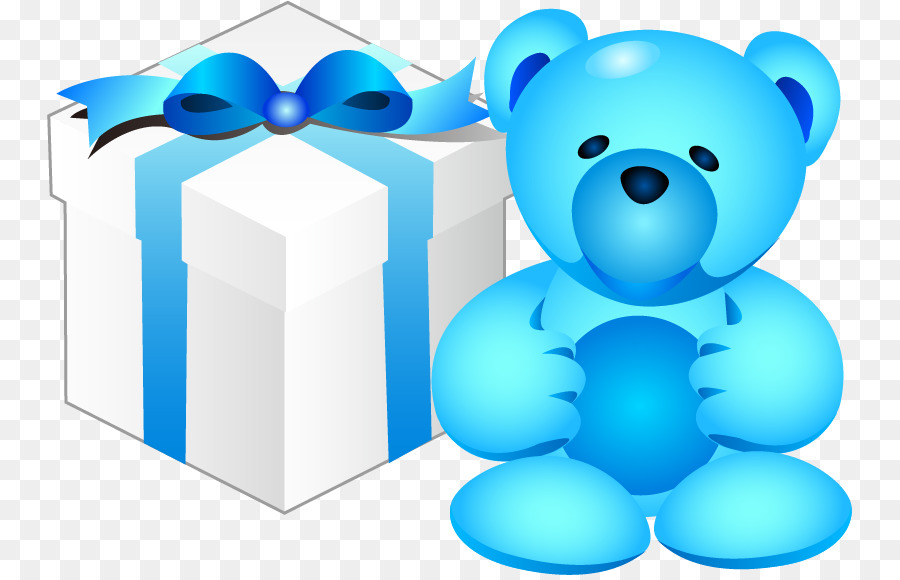 A bear in a box png clipart picture royalty free stock Gift Clip art - Bear and gift box png download - 805*575 - Free ... picture royalty free stock