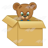 A bear in a box png clipart