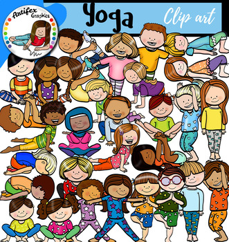 A big 30 clipart picture library Yoga clip art -Big set of 60 graphics! picture library