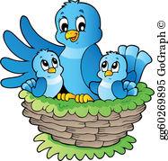 Bird Nest Clip Art - Royalty Free - GoGraph clip art stock