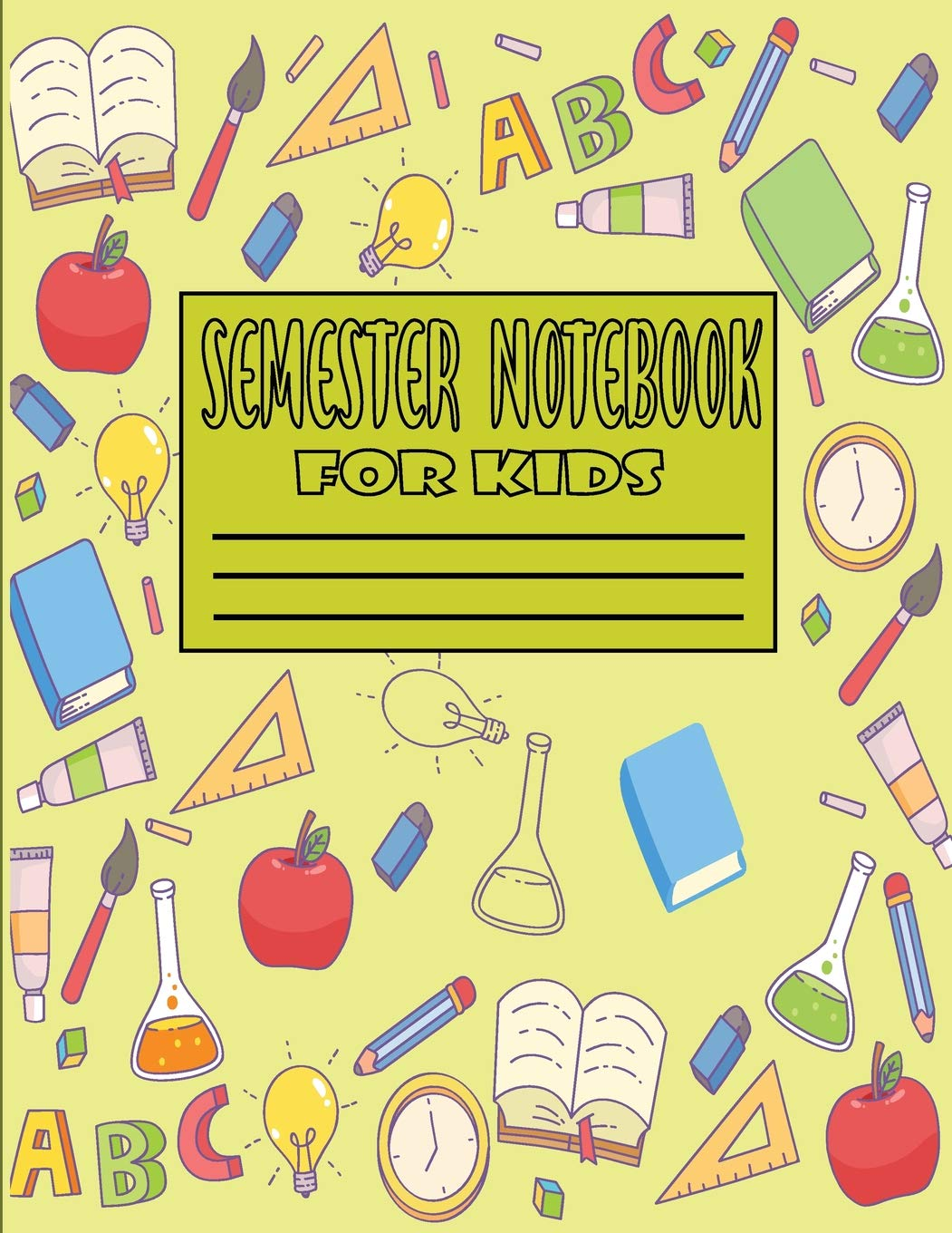 A black kindergarten writing clipart clip library stock Semester Notebook for Kids: 2019-2020 Academic My Planner, For ... clip library stock