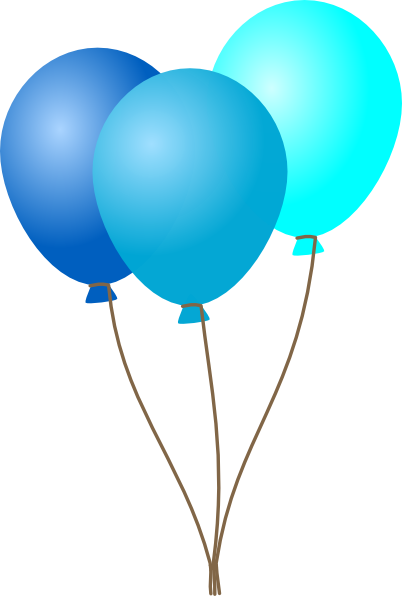 Pink and blue balloons clipart