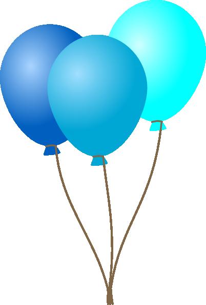 Aqua blue ballons clipart