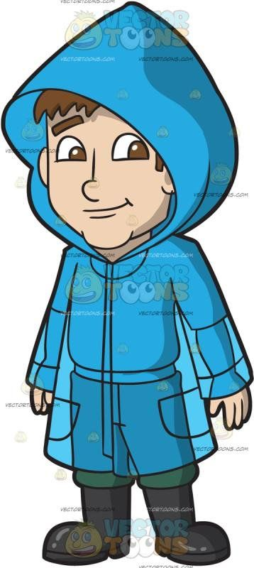 A bluerain coat clipart picture library download A Man Wearing A Blue Raincoat: A man with brown hair wearing a ... picture library download