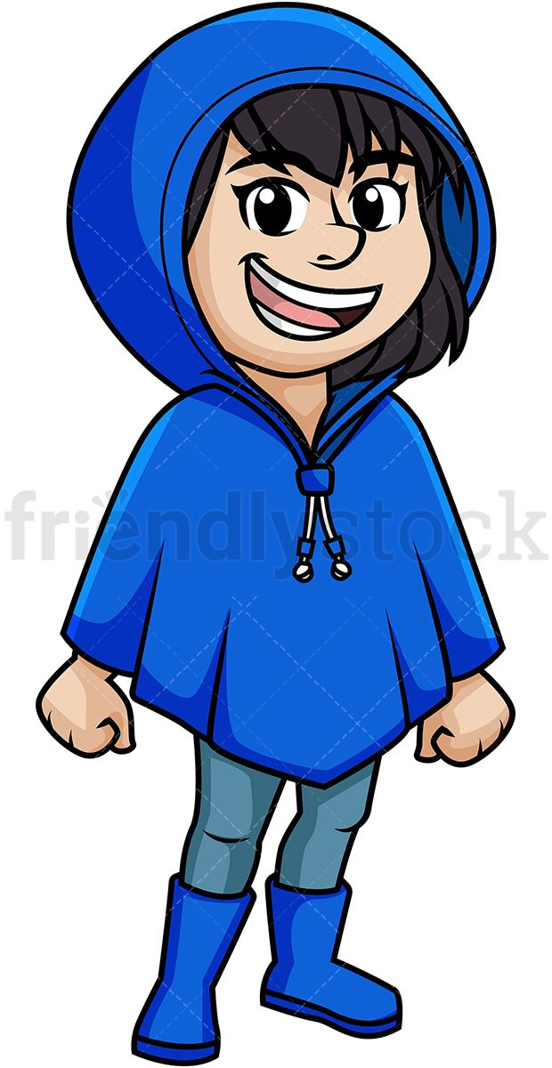 A bluerain coat clipart clipart library download Woman Wearing Poncho   Vector Illustrations   Free vector clipart ... clipart library download