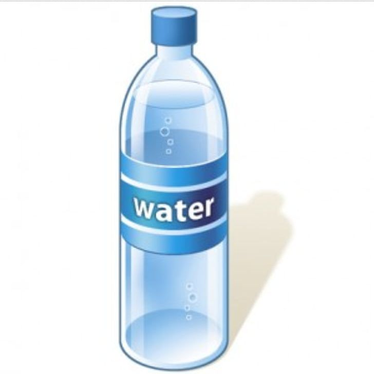 Mineral water bottle clipart