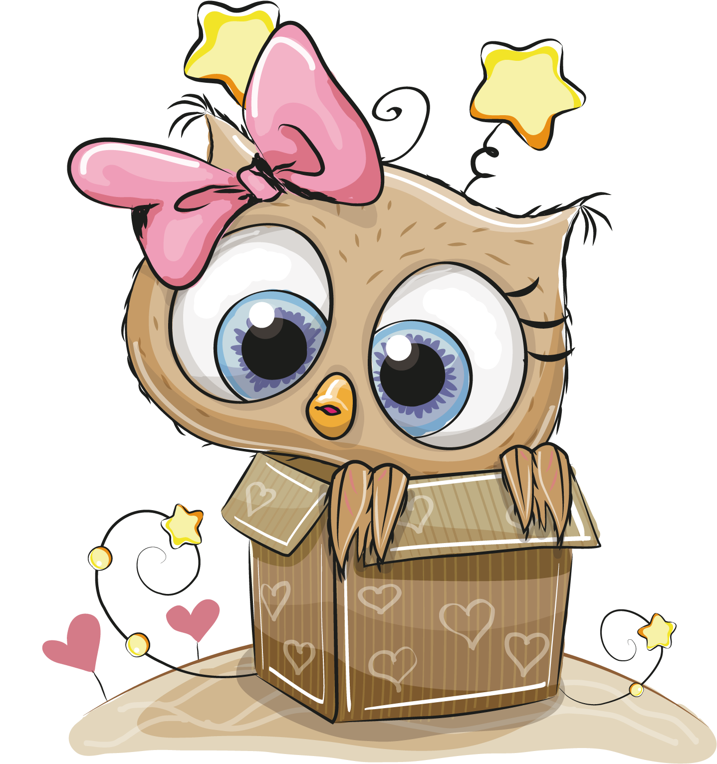 A box for you clipart svg black and white download HD Box Owl Coloring Gift Book Child Drawing Clipart - Cute Thank You ... svg black and white download