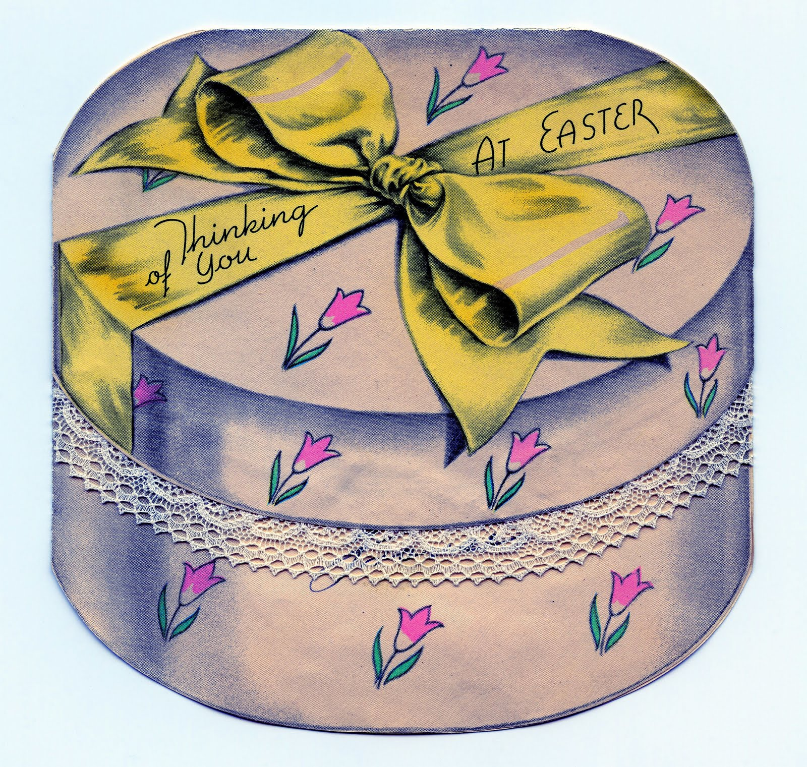 A box for you clipart clipart royalty free stock Easter Clip Art - Darling Vintage Hat Box - The Graphics Fairy clipart royalty free stock