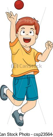 A boy cathcing a clipart. Vectors illustration of cricket