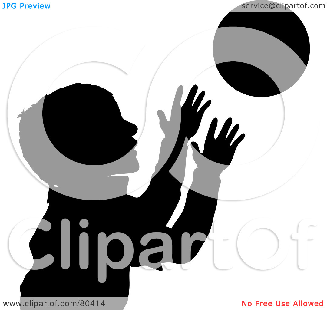 Royalty-Free (RF) Clipart Illustration of a Black Silhouette Of A ... clip transparent download