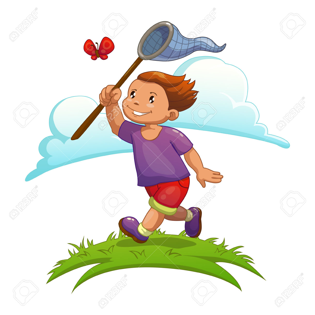 A boy cathcing a clipart image free stock 402 Catching Butterfly Cliparts, Stock Vector And Royalty Free ... image free stock